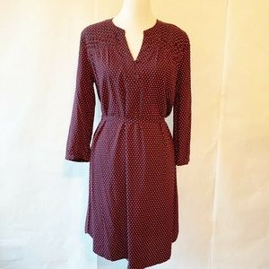 NWT 41 Hawthorn A-Line Dress Red Blue Polka Dot M